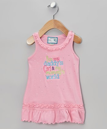 Pink 'Daddy's Girl' Ruffle Dress - Infant, Toddler & Girls