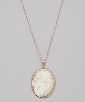 Rose Gold & Mother-Of-Pearl Pendant Necklace