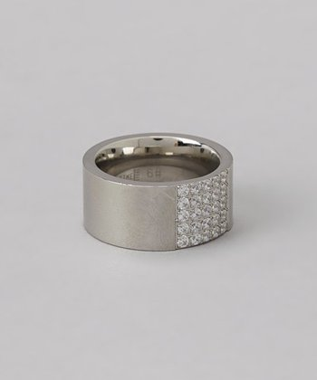 Diamond & Stainless Steel Ring