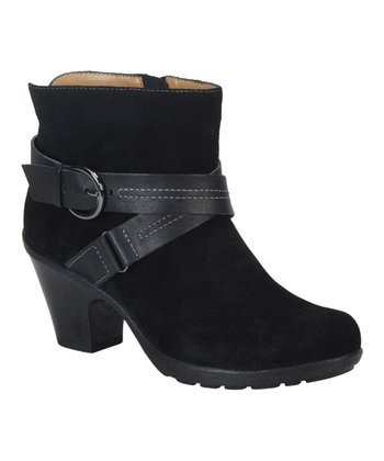 Black Suede Cady Ankle Boot