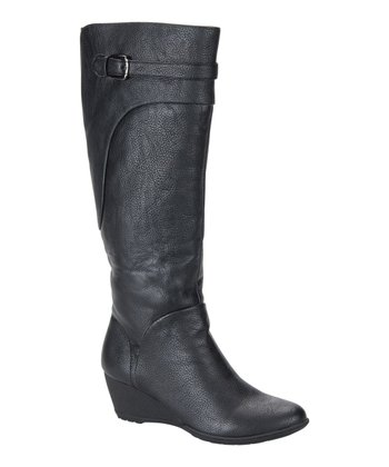 Black Olivia Wedge Boot - Women