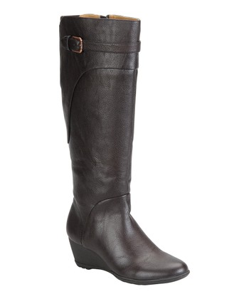 Dark Brown Olivia Wedge Boot - Women