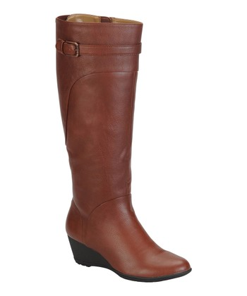 Rust Brown Oliva Wedge Boot