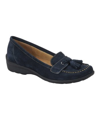 Navy Suede Tanya Loafer
