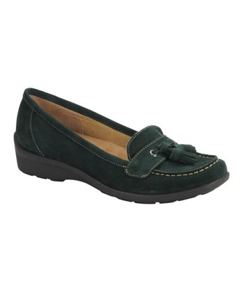 Verdant Green Suede Tanya Loafer