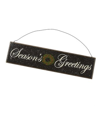 Black 'Seasons Greetings' Sign
