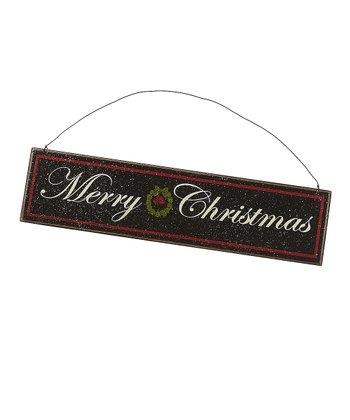 Black 'Merry Christmas' Sign