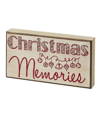 Cream 'Christmas Memories' Box Sign