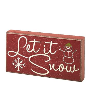 Red 'Let It Snow' Box Sign