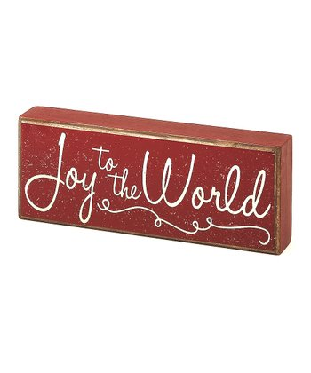 Red 'Joy to the World' Box Sign