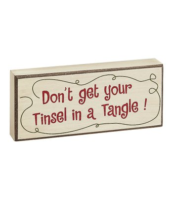 Cream 'Tinsel in a Tangle' Box Sign