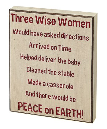 Cream 'Three Wise Women' Box Sign