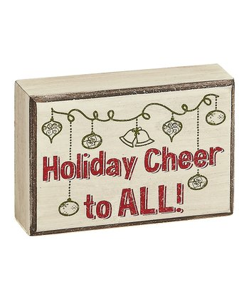 Cream 'Holiday Cheer' Box Sign