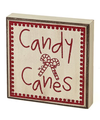 Cream 'Candy Canes' Box Sign