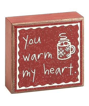 Red 'You Warm My Heart' Box Sign