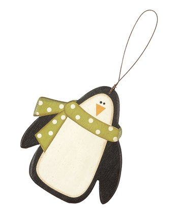 Black & Green Penguin Ornament - Set of Three