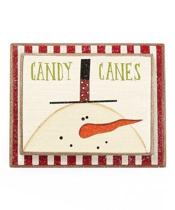 'Candy Canes' Snowman Ornament
