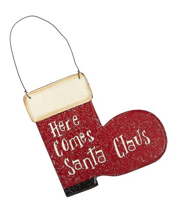 'Here Comes Santa Clause' Ornament - Set of Three