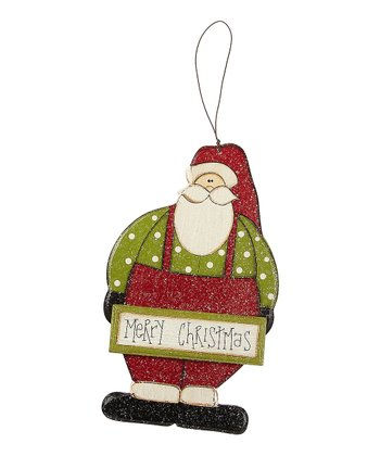 'Merry Christmas' Santa Ornament