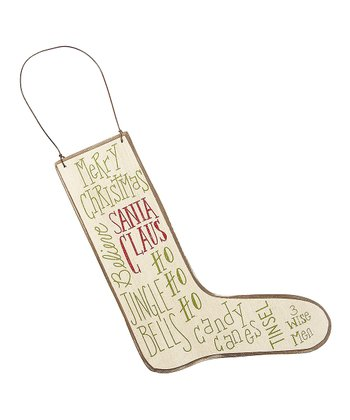 Merry Message Stocking Ornament