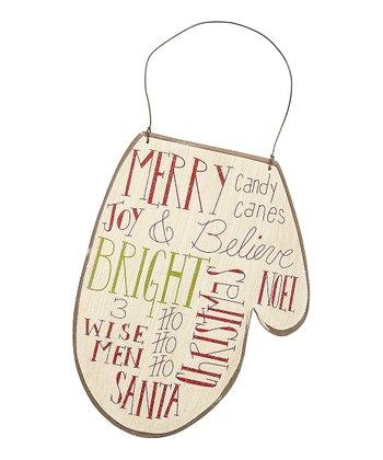 Merry Message Mitten Ornament