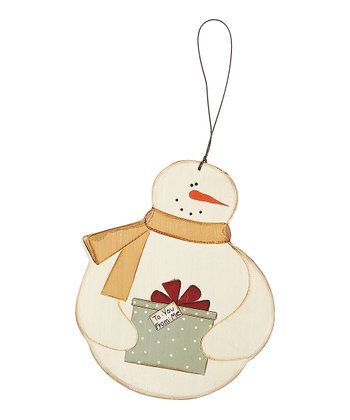 Yellow Scarf Snowman Ornament - Set of Three