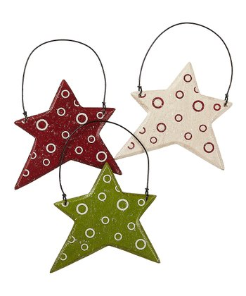 Merry & Bright Star Ornament Set