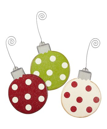 Merry & Bright Bulb Ornament Set