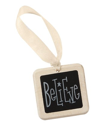 'Believe' Mini Tile Ornament - Set of Four