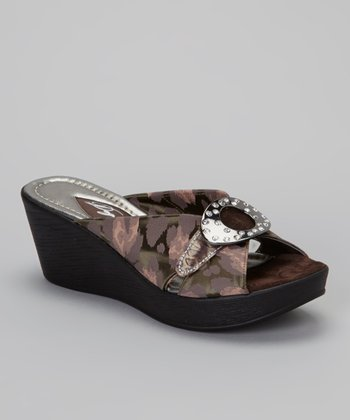Black Girraffa Pepi Wedge