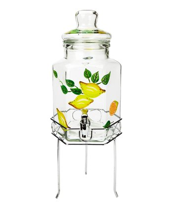 Citron 1.35-Gal. Beverage Dispenser & Chrome Stand