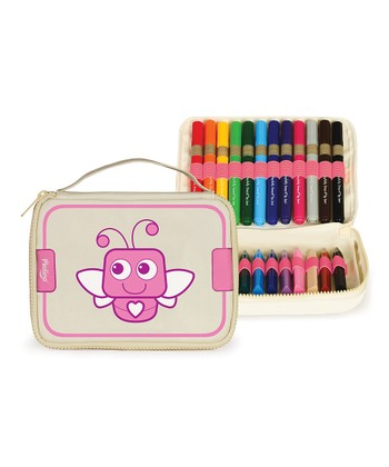 Bug Art Zipper Pouch Set