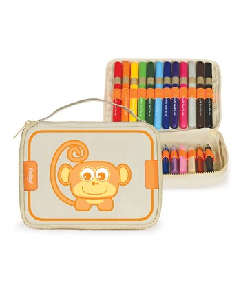 Monkey Art Zipper Pouch Set
