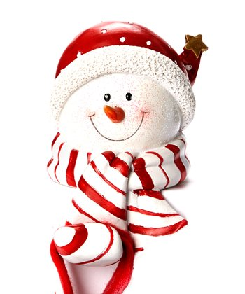 Red Hat Snowman Stocking Holder