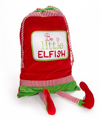 'Be a Little Elfish' Plush Gift Bag