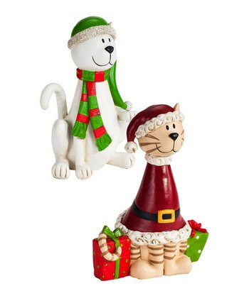 Kitty Cat Christmas Figurine Set