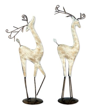 Graceful Reindeer Figurine Set