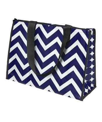 Navy & White Large Cooler