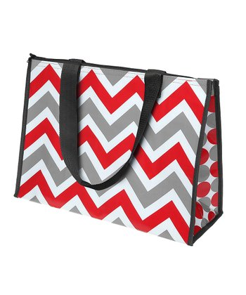 Red & Gray Large Cooler