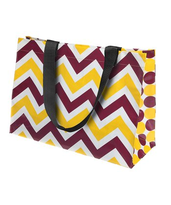Maroon & Yellow Large Tote