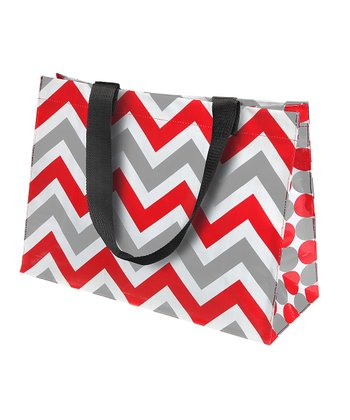 Red & Gray Large Tote