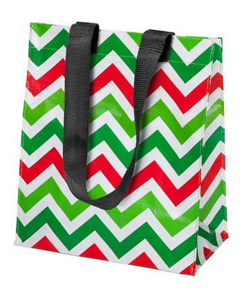 Green & Red Zigzag Small Tote
