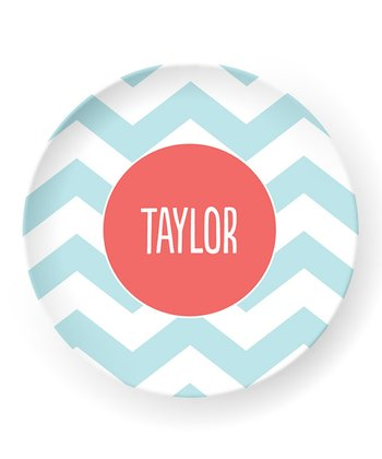 Pool Zigzag Personalized Plate