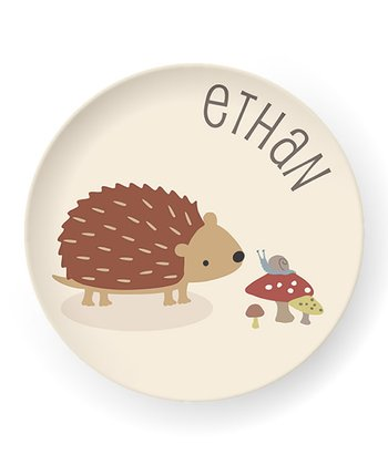 Hedgehog Personalized Plate