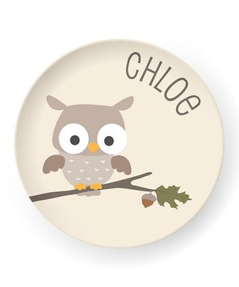 Owl Personalized Plate