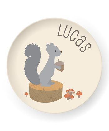 Squirrel Personalized Plate