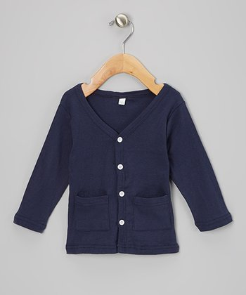 Navy Cardigan - Toddler & Girls