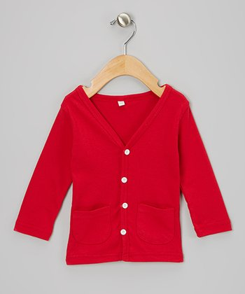Red Cardigan - Toddler & Girls