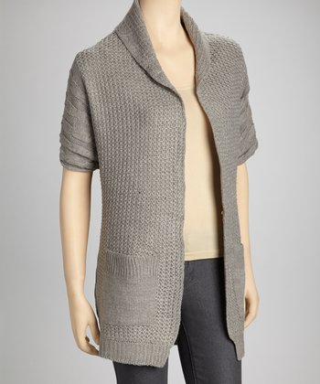 Heather Gray Open Cardigan