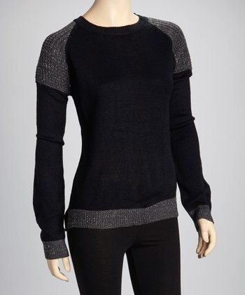Black & Charcoal Glitter Sweater